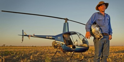 Fitzroy Crossing helicopter pilot Rick Ford. Picture: Nathan Dyer